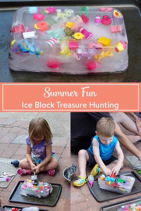 Photo of Summer Fun: Ice Block Treasure Hunting • The Inspired Home