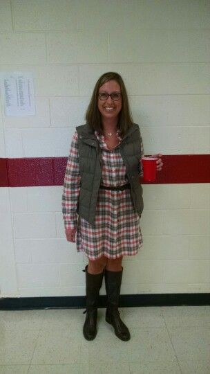 Perfect rainy day teacher outfit