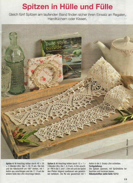 German - wide edging Crochet: Edging