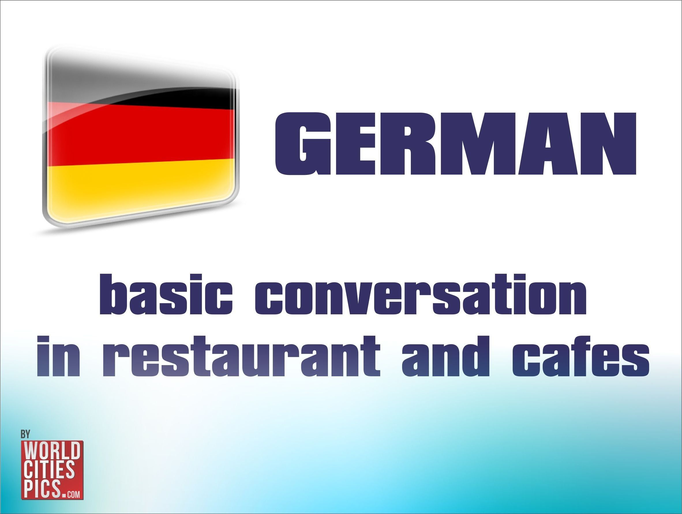 German Basic Conversation In Restaurant And Cafe Cruise