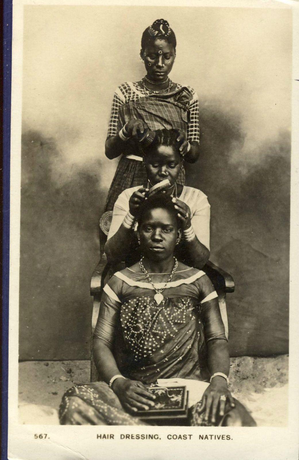 girls hair dressing mombasa 1930s - some things never change