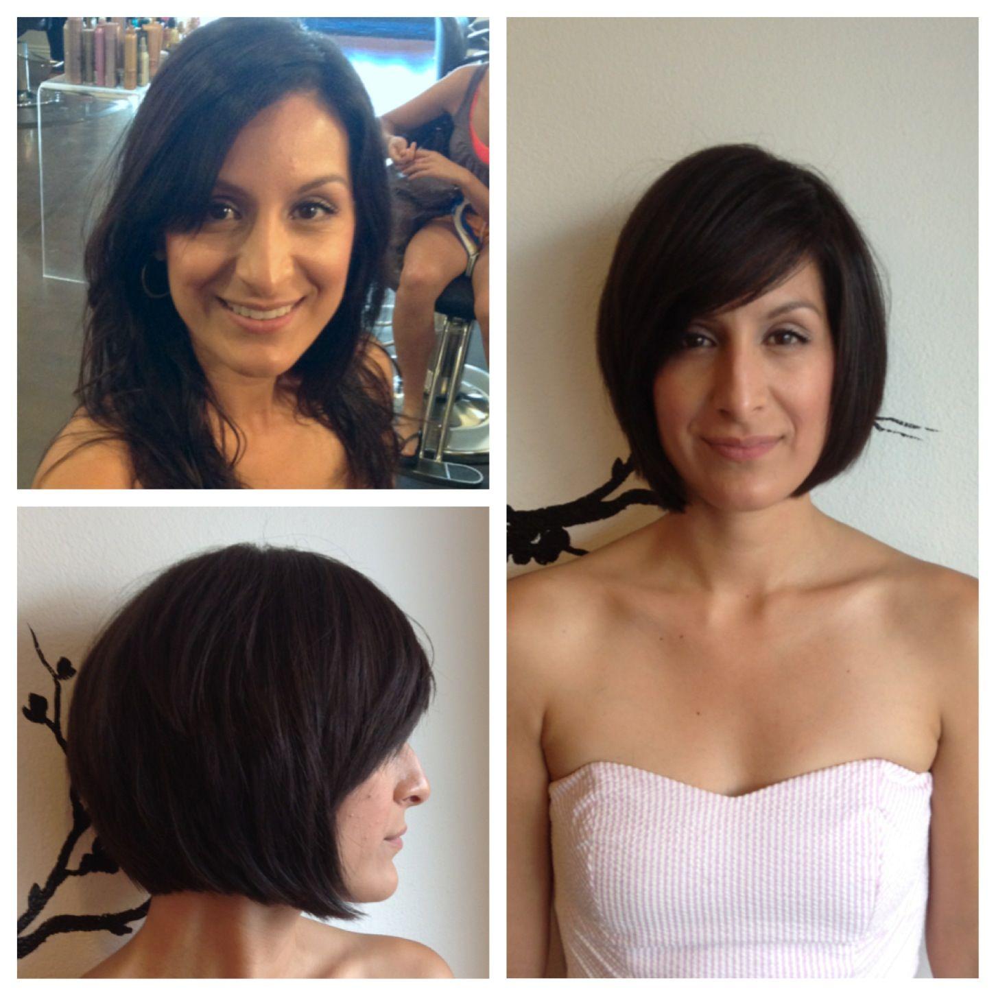 Before and after bob haircut - Before And After Bob Haircut By Us. Pinterest Haircuts, Bobs