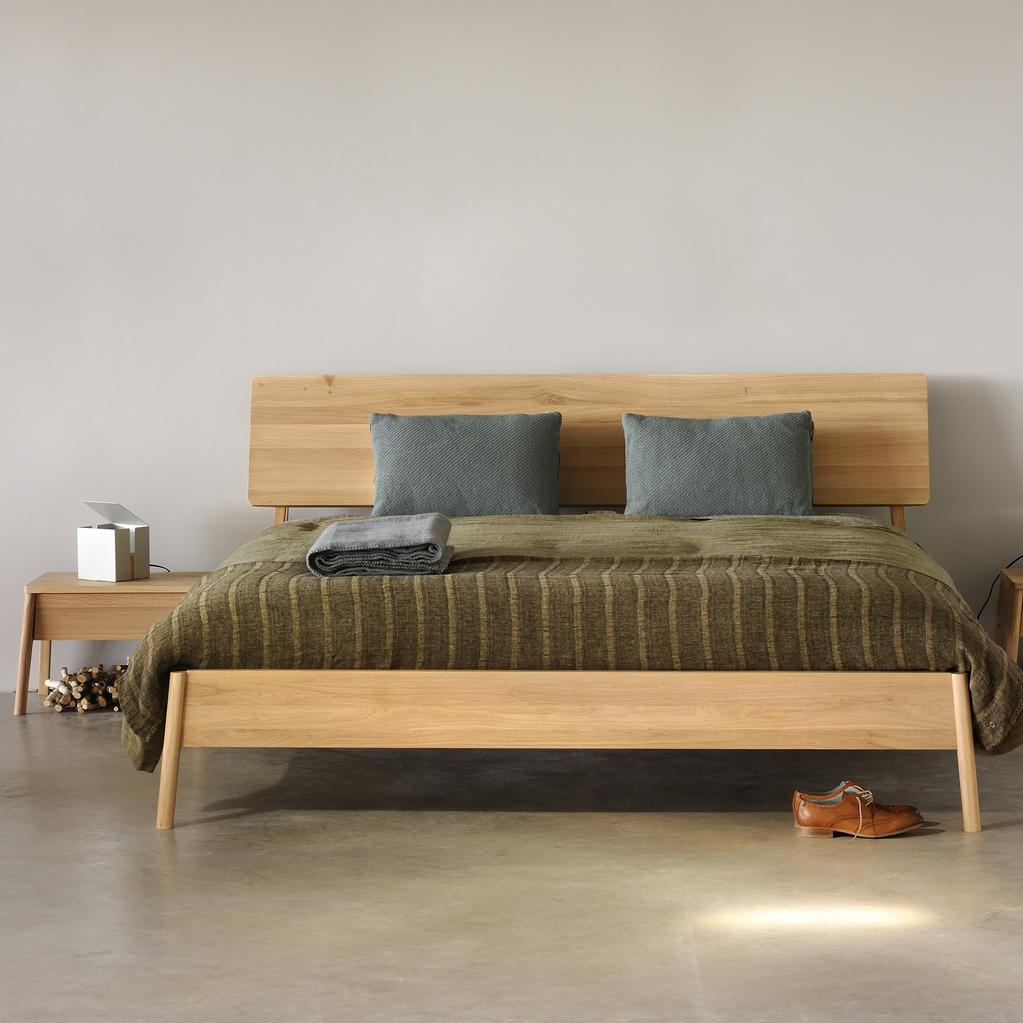 Leather Bed Oak Beds Und: Oak Beds, Wooden Bed