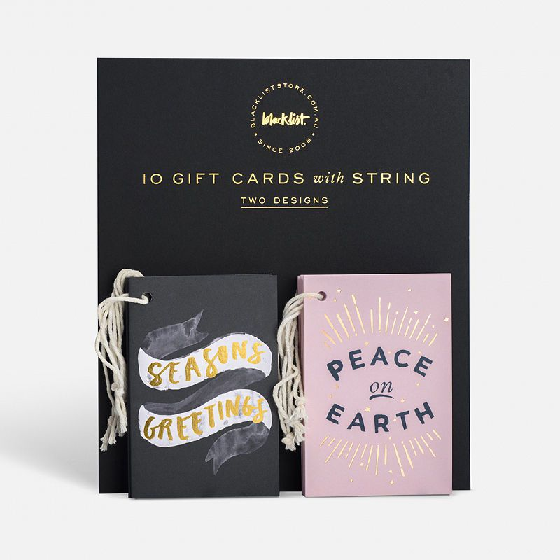 top3 by design - Blacklist Studios - xmas gift card set 10pk
