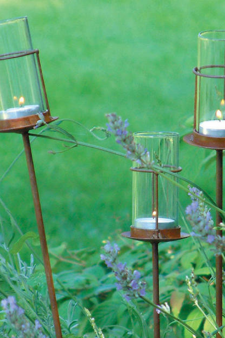 Rustic Gl Tealight Holder Outdoor Candle Lanterns