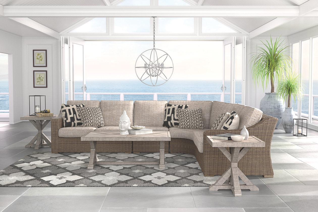 Beachcroft 4-Piece Outdoor Seating Set | Ashley Furniture ... on Beachcroft Beige Outdoor Living Room Set  id=16951