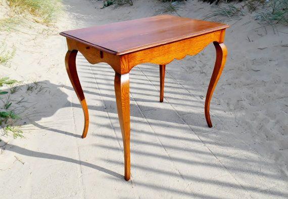 3 Vintage Bijzettafeltjes.Antique Side Table Rustic Solid Oak End Table Coffee Table