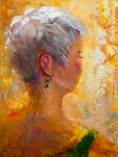 Emerald Drop Earring Oil Painting By Artist Nora Kasten Naples Fl Oil Painting Painting Emerald Earrings Drop