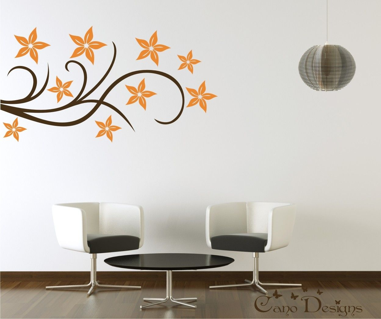 Image Detail For Floral Design Vinyl Decal Wall Decals Stickers