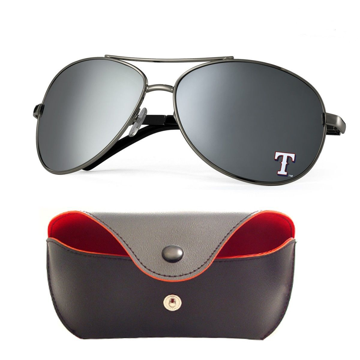 Texas Rangers Aviator Sunglasses and Case