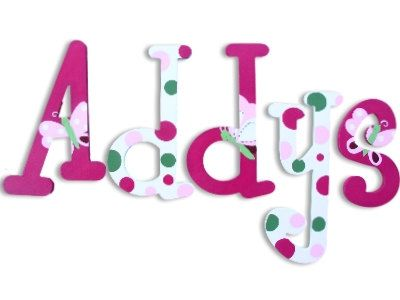 Letters for Nursery Wooden Wall Decor Wooden Name Letters Wall