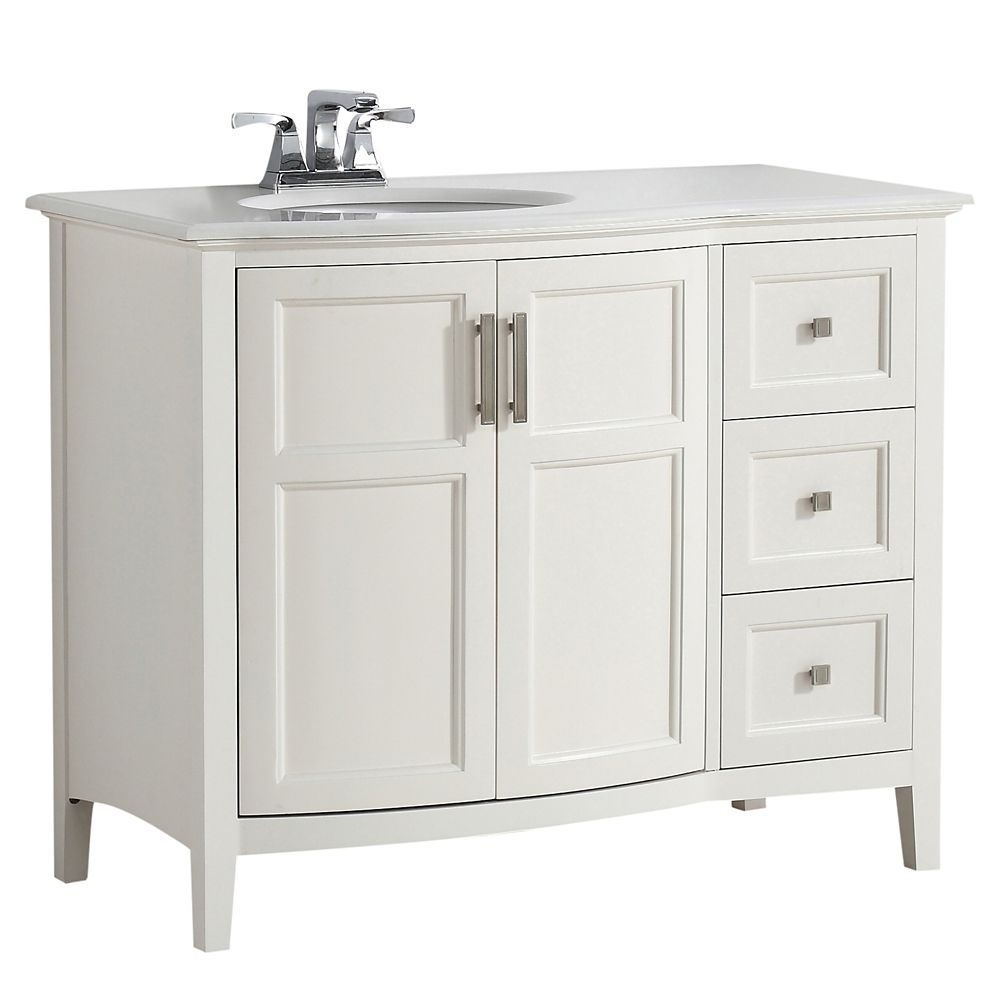 Home Depot 1652 Winston 42 Inch W Rounded Front Vanity In Soft