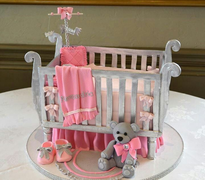 Pic Of Crib Cake Cute Made By Amy Cakes Norman Ok Baby