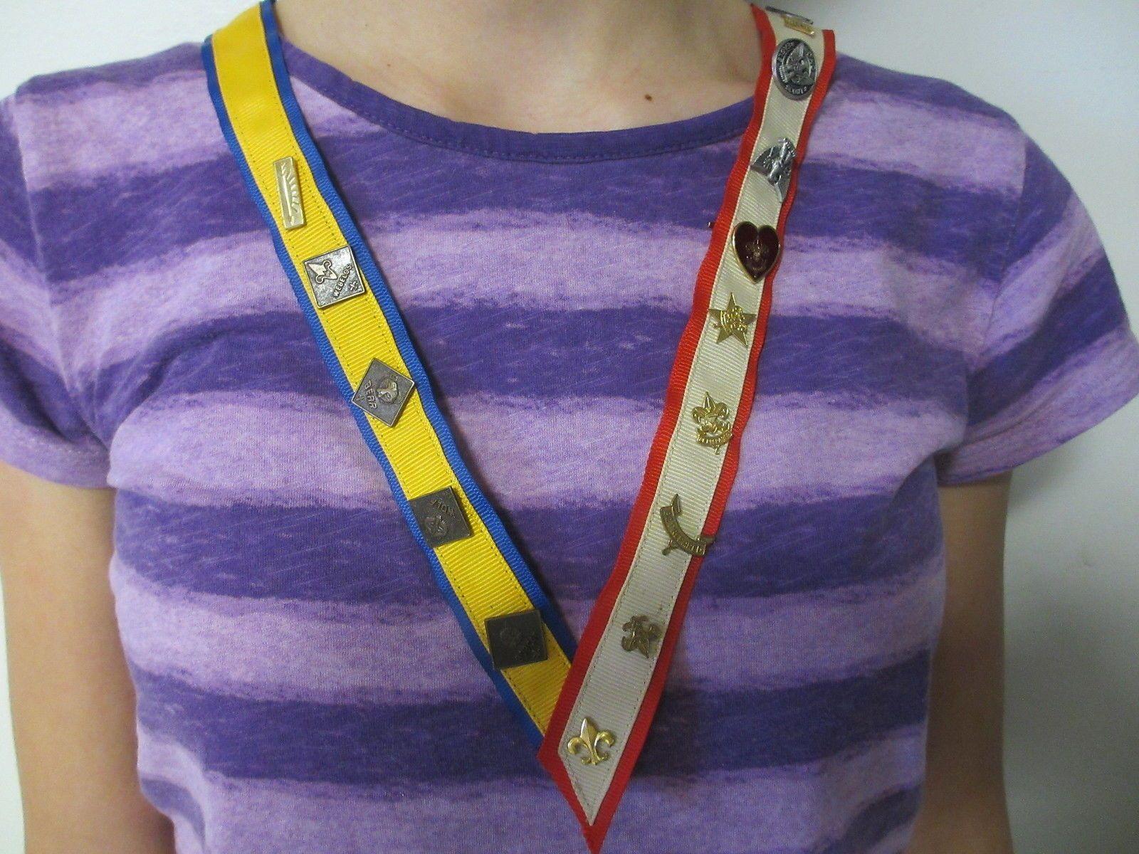 Boy Cub Scout Mother Award Pin Holder Ribbon Sash Necklace ...