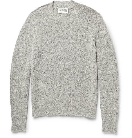 Maison Martin Margiela Textured Cotton-Blend Sweater | MR PORTER ...