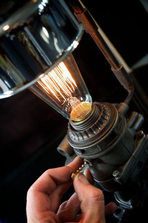 Machine Age/Dieselpunk Ford Carburetor Lamp with Air by carnart