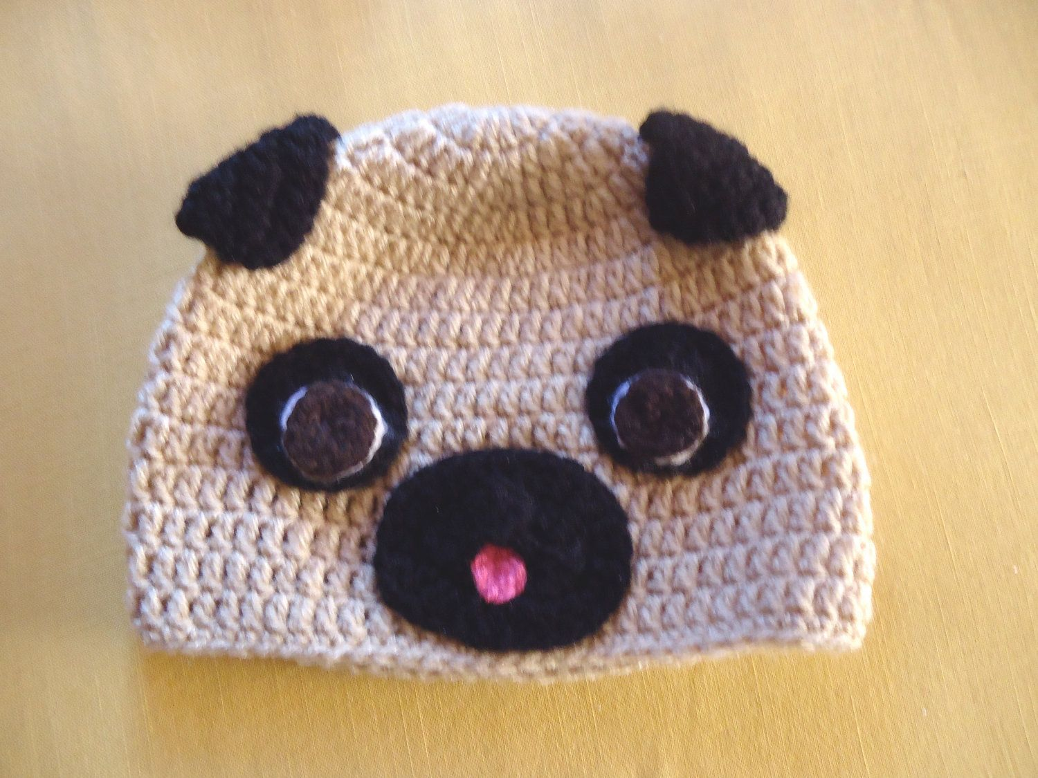 Adult Pug Beanie.  30.00 cd1724e272e