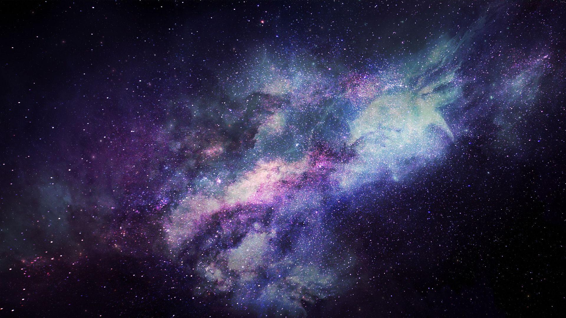 Purple Galaxy Mac Background