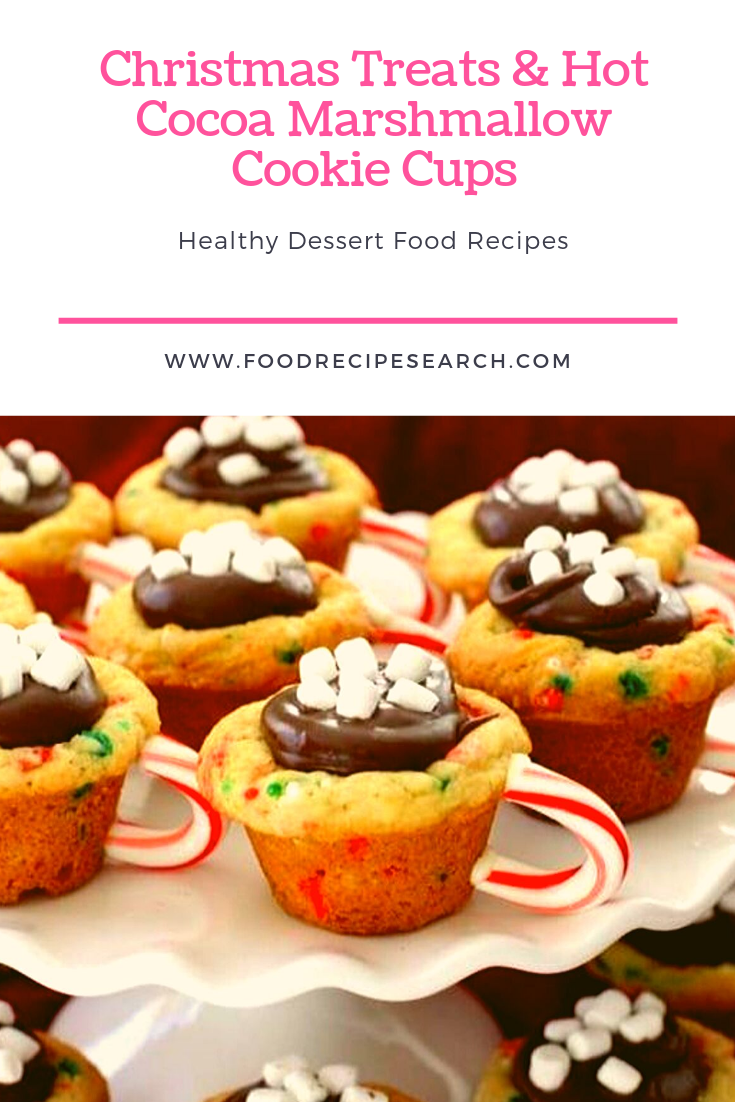 Christmas Treats & Hot Cocoa Marshmallow Cookie Cups - Want to earn some pleasurable Christmas time Snacks for your own kids at home? Then, try and get this basic and interesting Hot Chocolate Marshmallow Cookie Cups. These are really easy to help make, plus the compounds are relatively easy to look for. Check the complete formula directly below to generate some at home. #dessertfoodrecipes #chocolatemarshmallowcookies