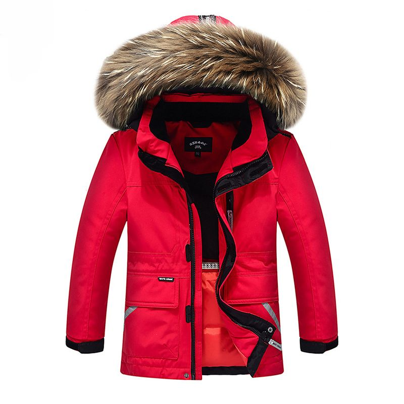 624871ae3 Top Quality!Snow Wear Winter Boys Duck Down Jacket Girls Outerwear ...