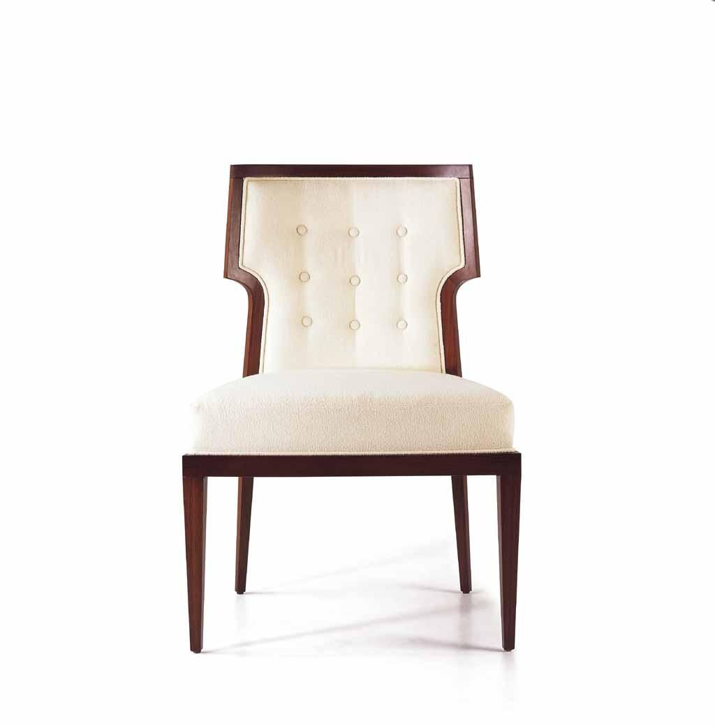 Adeline Dining Chair. White comfy chairs, round wooden ...