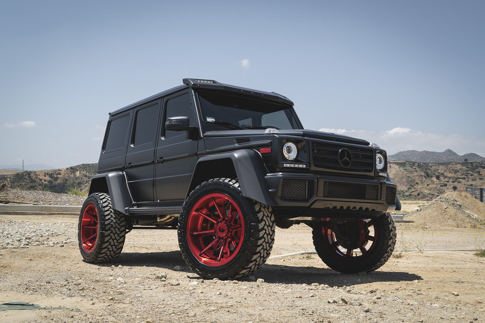 Black Mercedes G Class Gets a Distinct Look with Matte Red ...