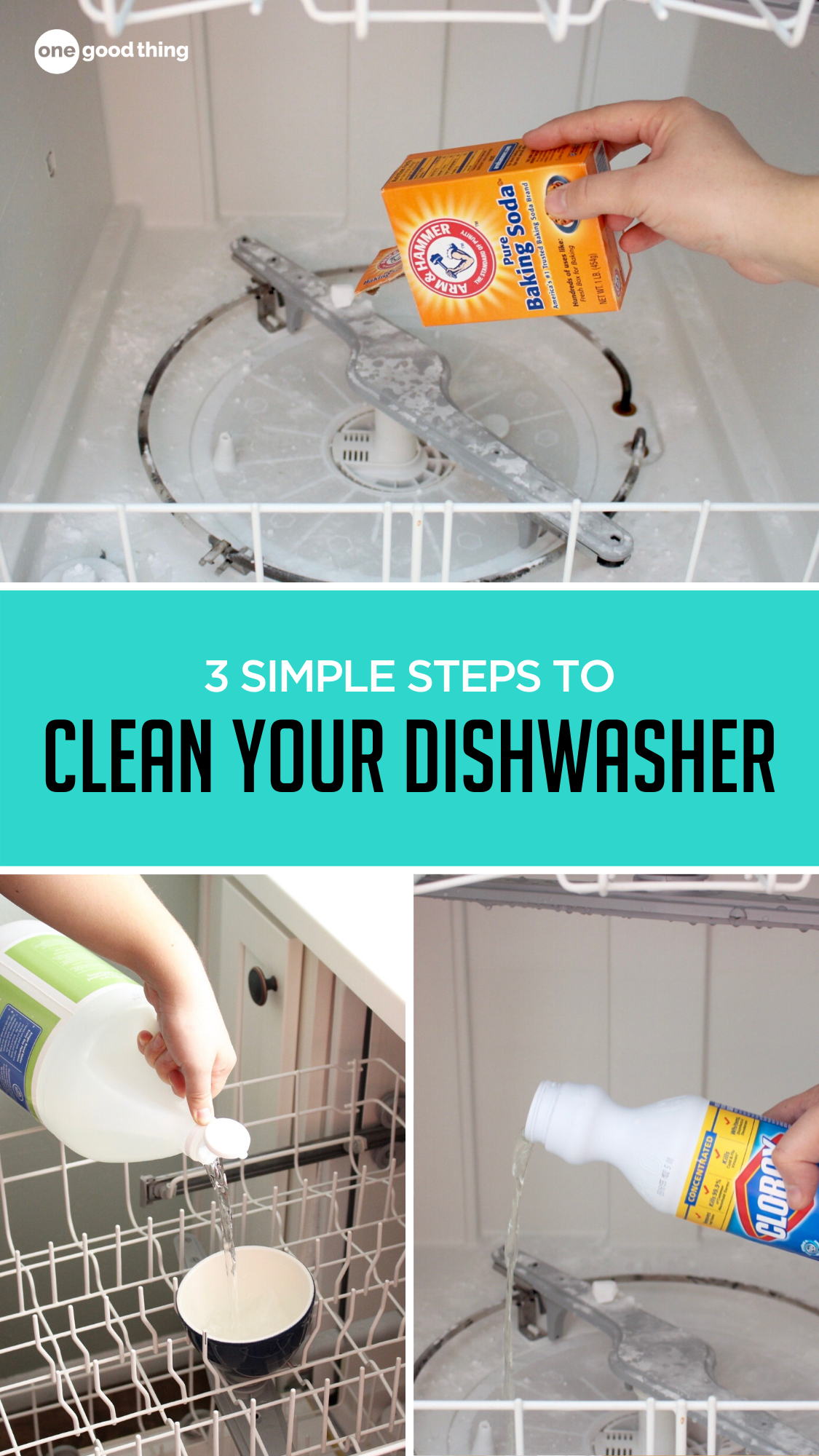 3 Simple Steps to Clean your Dishwasher