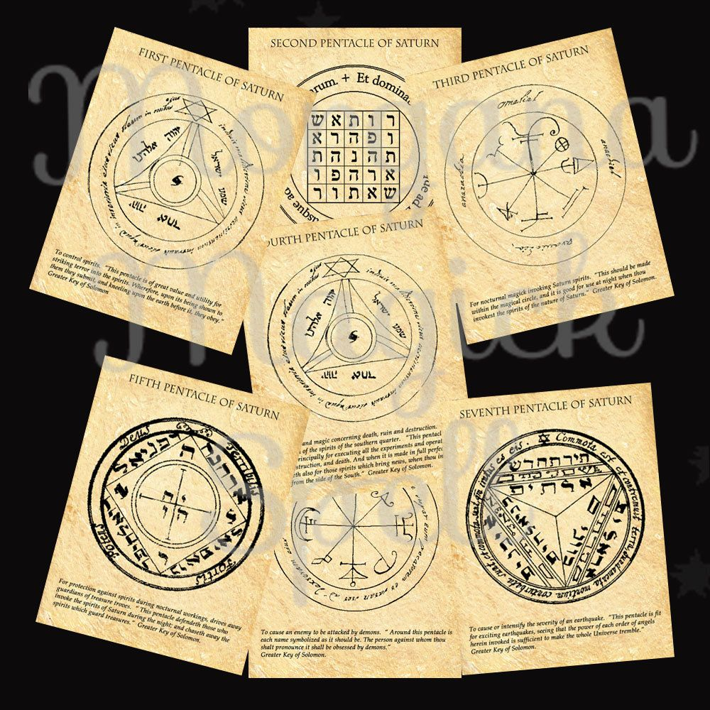 SATURN PENTACLES of SOLOMON from the most famous and