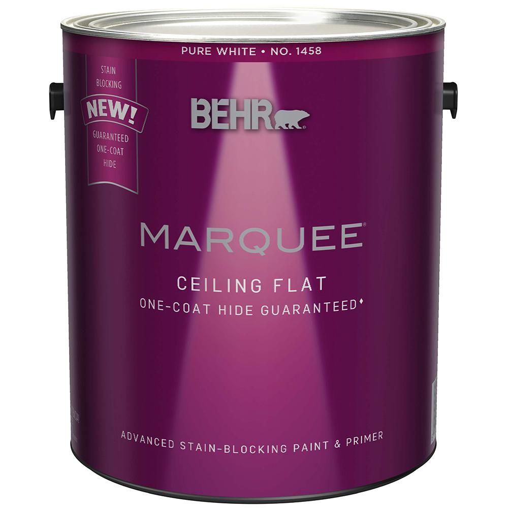 Behr Marquee 1 Gal White Ceiling Flat Interior Paint And Primer