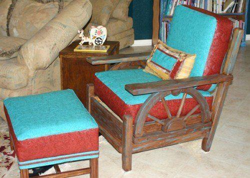 Wagon wheel chair, vintage chair, furniture - Wagon Wheel Chair, Vintage Chair, Furniture Wagon Wheels