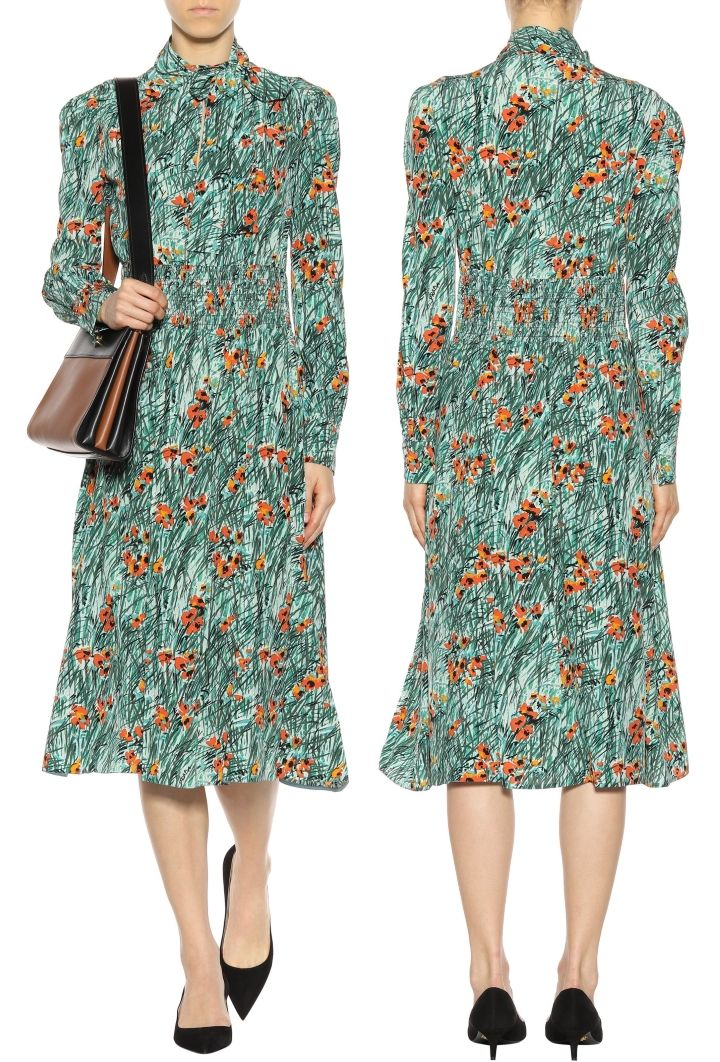 bcd04de35c0 The Duchess wore the Prada Poppy Print Silk Dress today (with thanks to  HeavenQRF). The £1