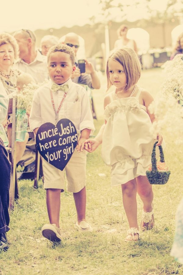 DIY Wedding // darling flower girl and ring bearer... uncle josh here comes your girl! // Pabst Photo