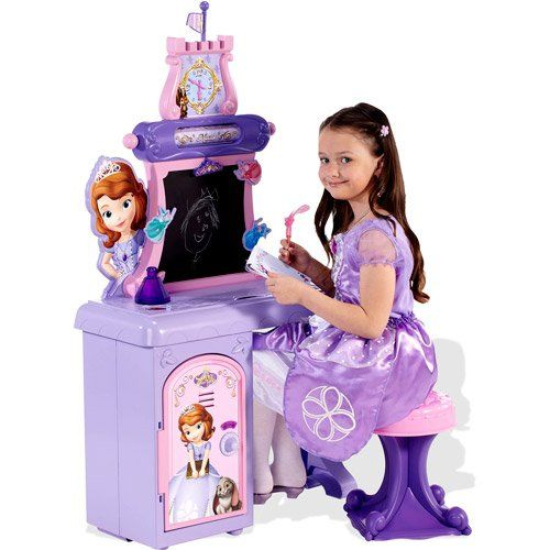 Amazon Com Walt Disney Princess Sofia The First Vanity School Desk For Girls Of All Ages With M Disney Princess Sofia Toys For Girls Princess Sofia The First