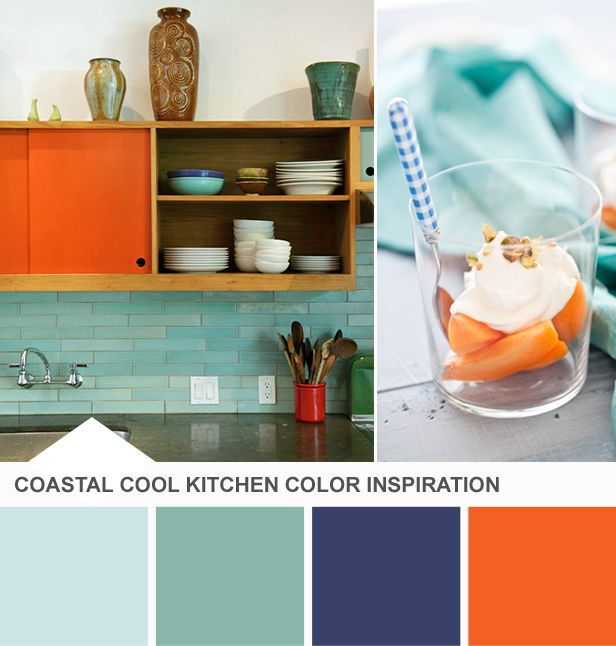 Orange And Blue Kitchen Decor: Modern Wallpaper Trends + 11 Prints To Try