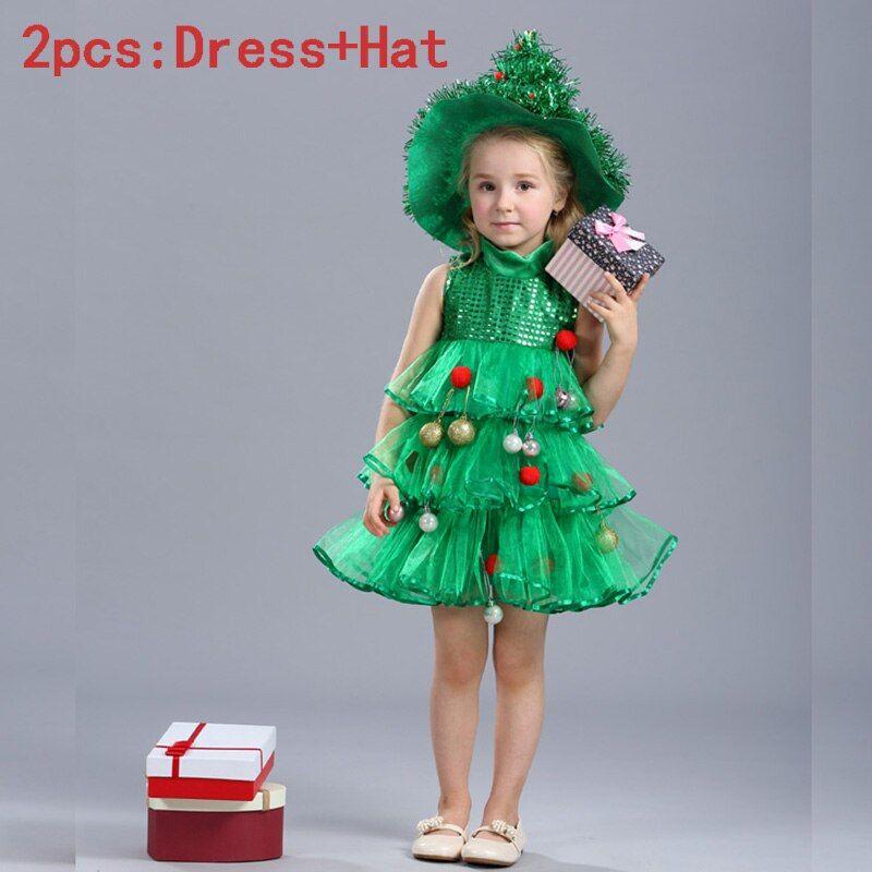 Childrens Kiddie Christmas Tree Christmas Tree Costume Tree Costume Christmas Tree Dress