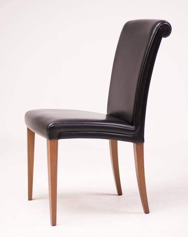 Amelie Poltrona Frau.Set Of Six Poltrona Frau Vittoria Leather Chairs Renovate