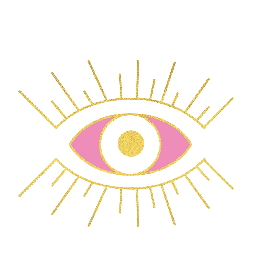Evil Eye Pink And Gold Art Print By Artemis And Arrow X Small Gold Art Print Evil Eye Art Evil Eye Design