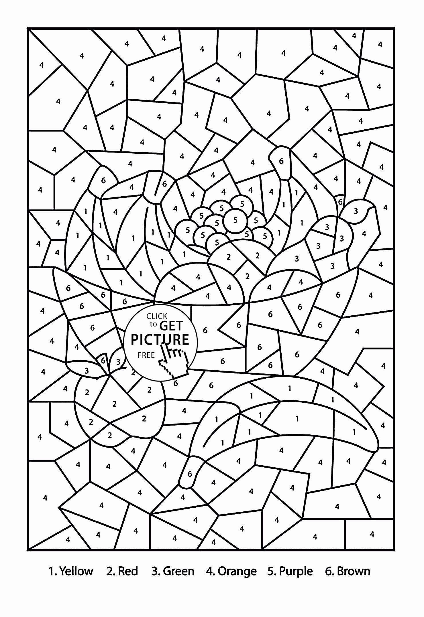 Fruits Coloring Worksheets For Kindergarten New Color By Number Fruits Coloring Page For Kids Ed Kids Coloring Books Online Coloring Pages Fruit Coloring Pages [ 2156 x 1480 Pixel ]