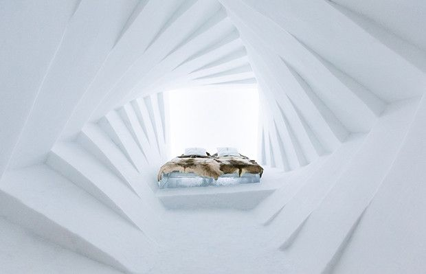 Ice hotel in Sweden via followthecolours