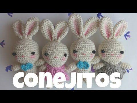 Amigurumis conejo grande : Como tejer conejo para muñeca aranza amigurumi by petus youtube