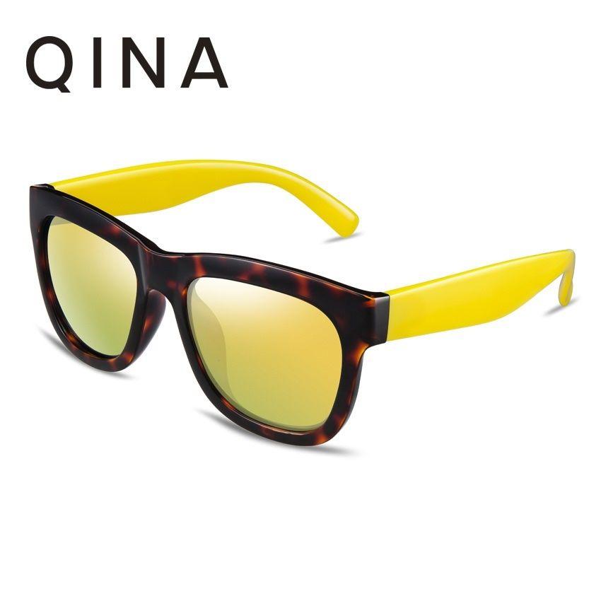 e798423f9c7 Qoo10 - QINA POLARIZED Women Tortoise Sunglasses Yellow temple arms Square  UV ...