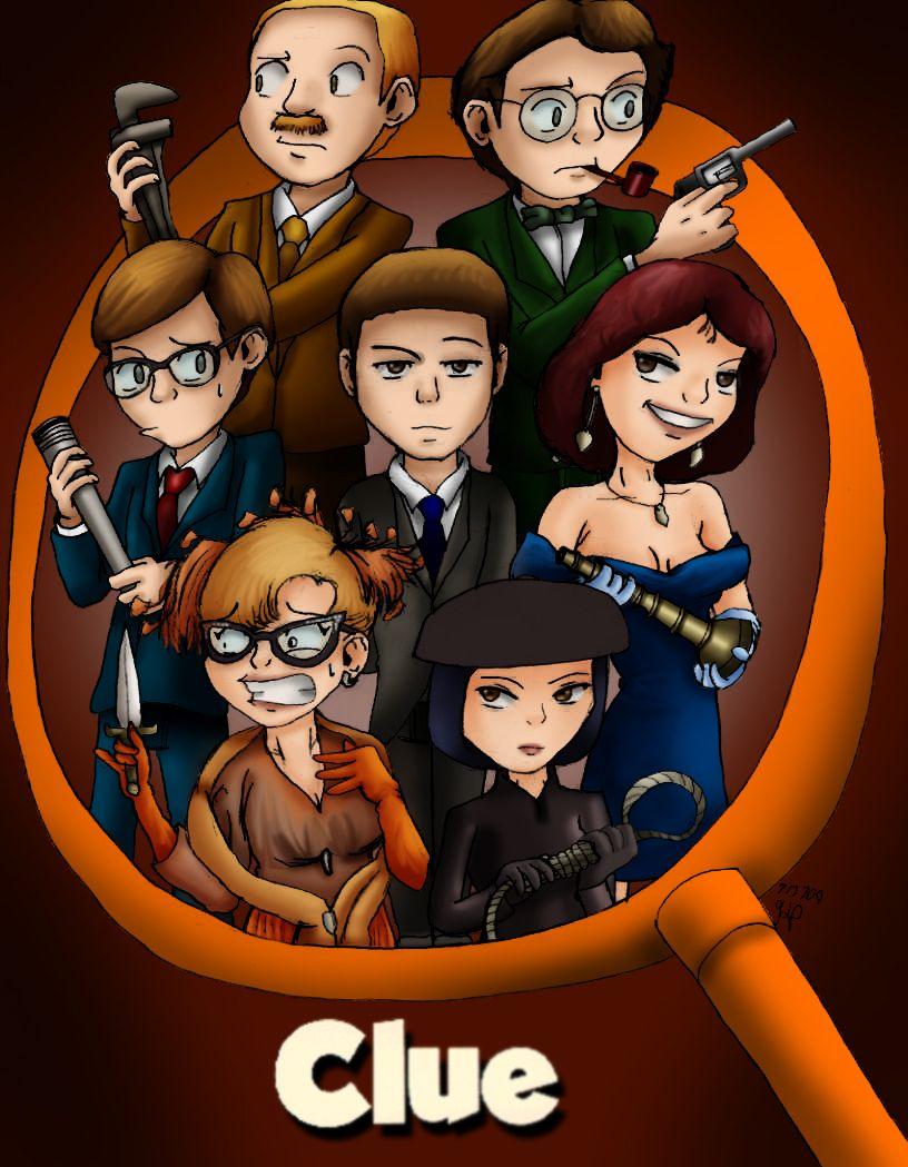 """Clue"" movie fan art! Clue movie, Clue games, Mystery"