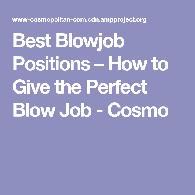 Cosmo blowjob tips