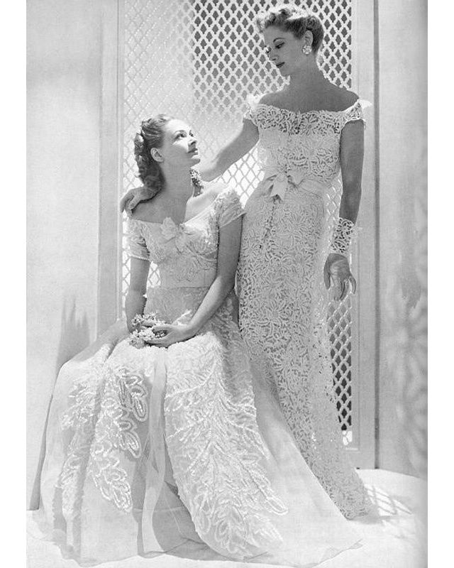 Robes de mariée vintage vues sur Pinterest Dior YSL Balenciaga Pierre Cardin Birkin Bardot | Vogue