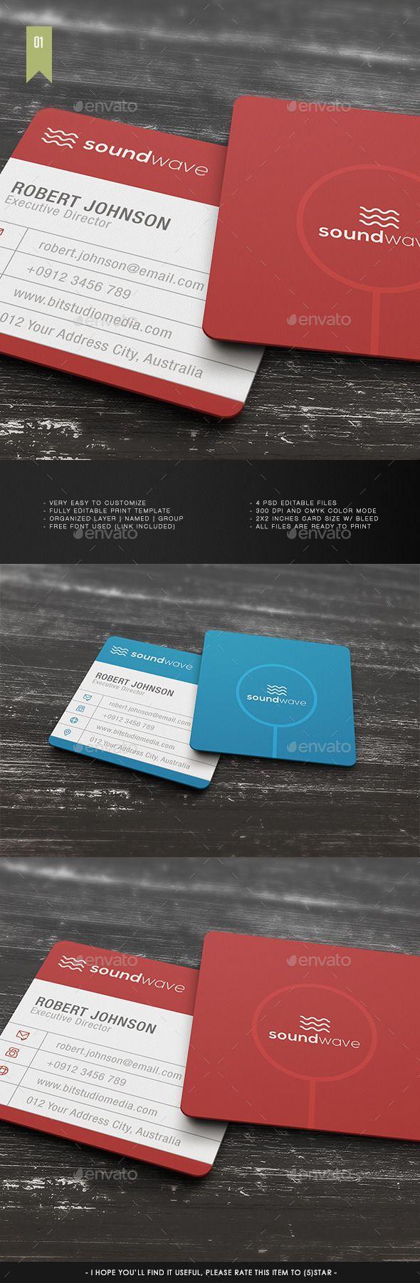 Square Business Card V 001 Square Business Card Printable Business Cards Corporate Business Card