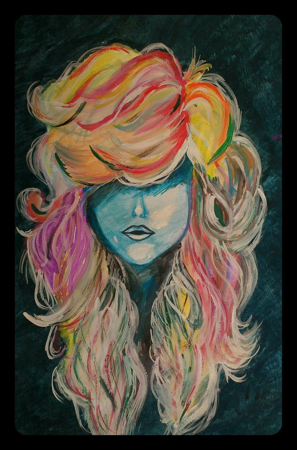 Art color hair - Vivid Hair Color Watercolors Cool Art Bold Fun Painting Girlboss