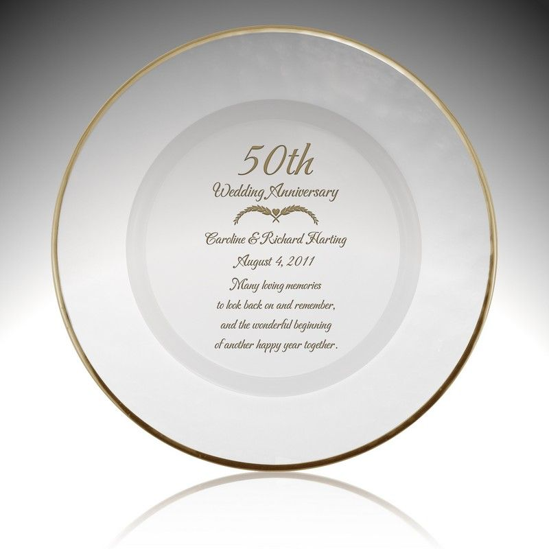 Personalized 50th Wedding Anniversary Gifts | 50 year Gold Plates ...