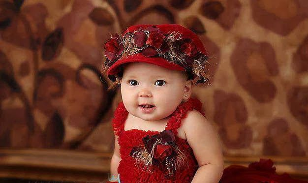 Lovely Baby Girl In Red Dressing Babies Baby Wallpaper Cute