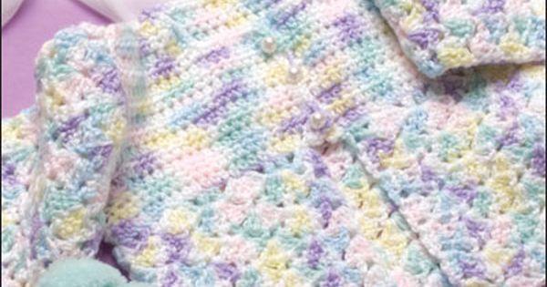 Baby Jacket free crochet pattern | Crochet Baby Clothes | Pinterest ...