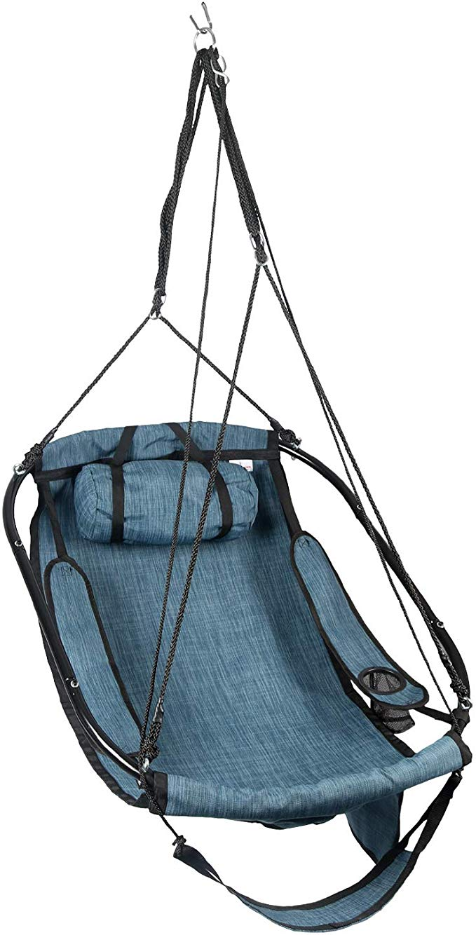 Bathonly Hanging Hammock Air Chair, Metal Bars